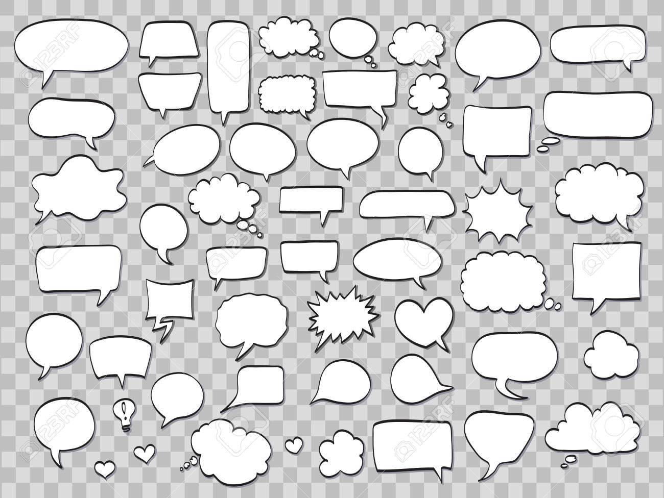 Set of comic speech bubbles - 86847544