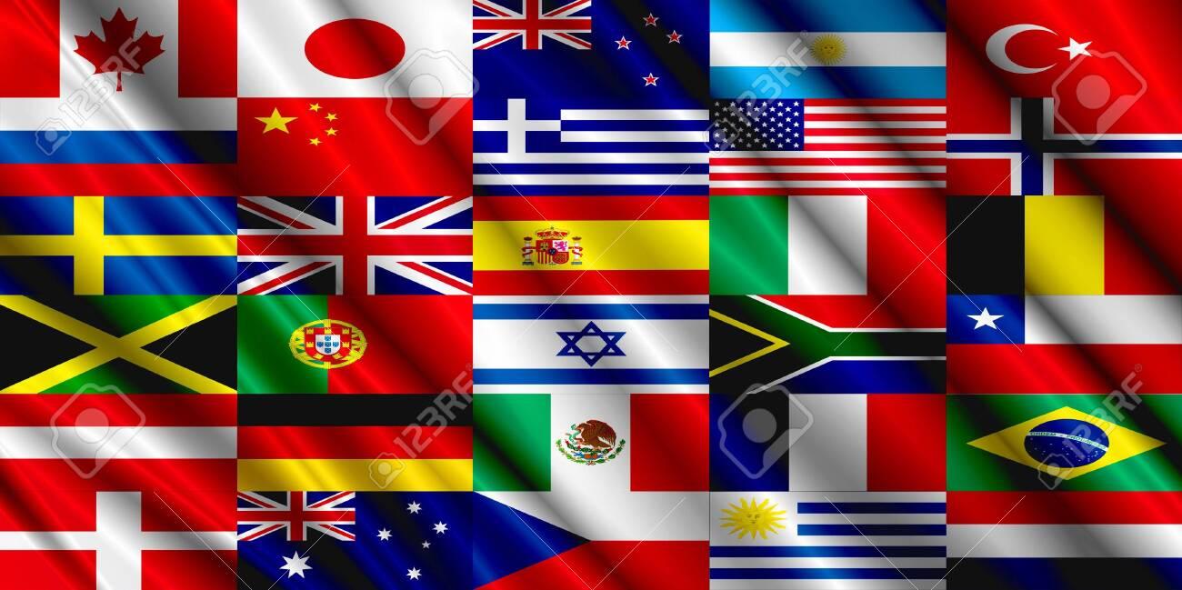 Countries Flag silk - 121054746