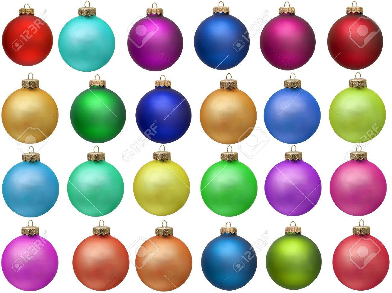 collection of colored christmas ornament . Isolated over white. Stock Photo - 5968297
