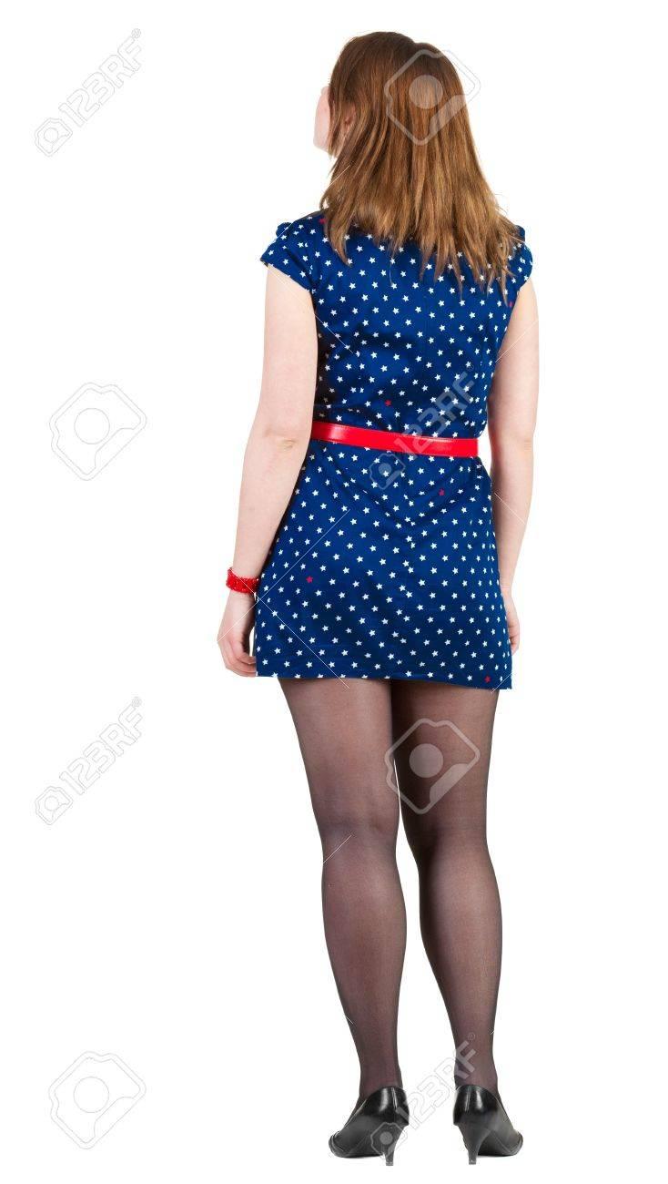 Vestido azul y tacones