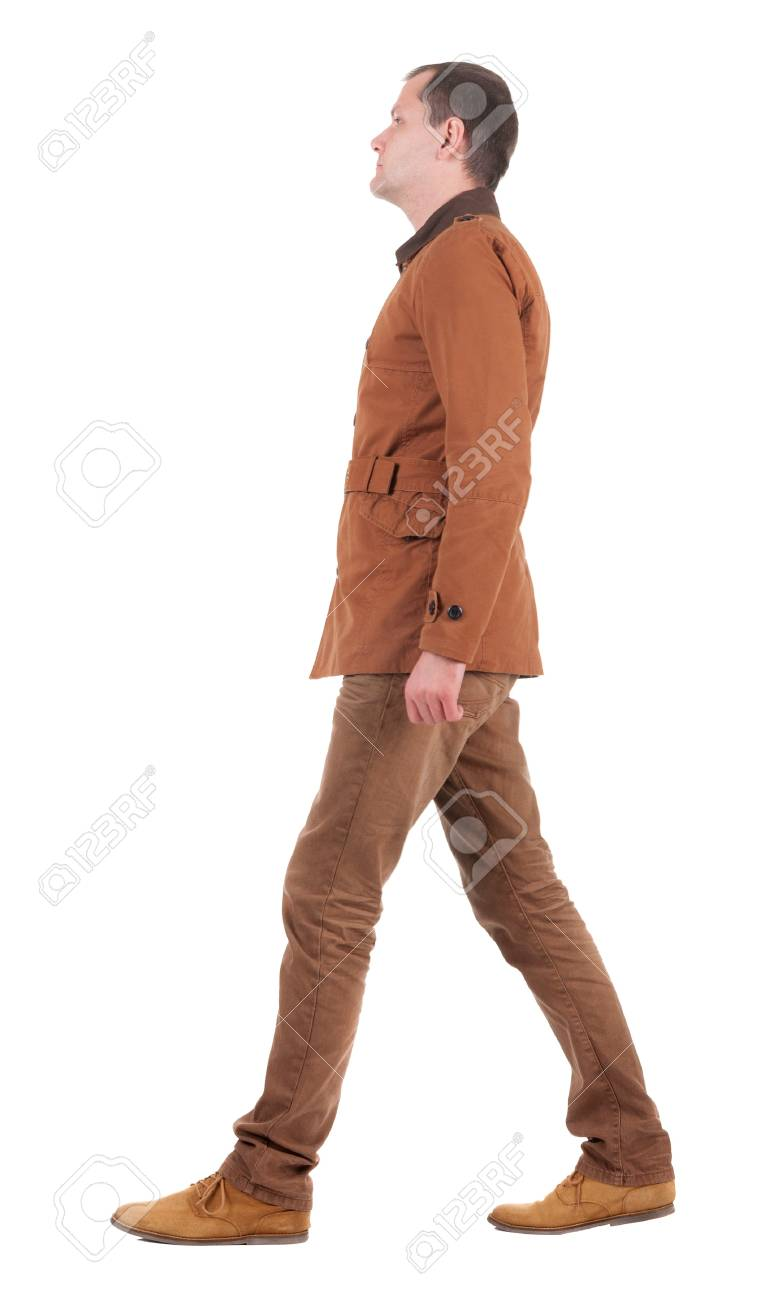 Back view of going  handsome man in jeans and jacket.  walking young guy in jeans and  jacket. Rear view people collection.  backside view of person.  Isolated over white background. Stock Photo - 16306122