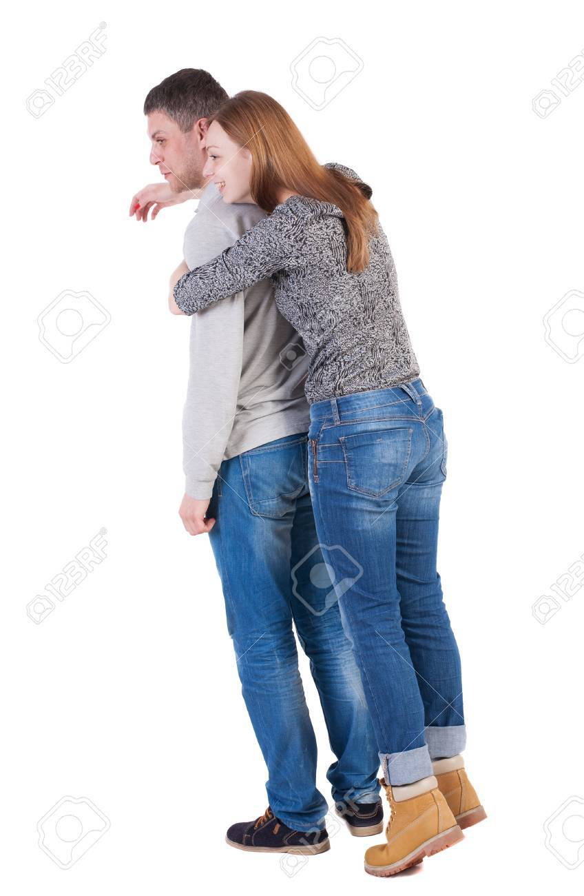 how to hug a guy from behind