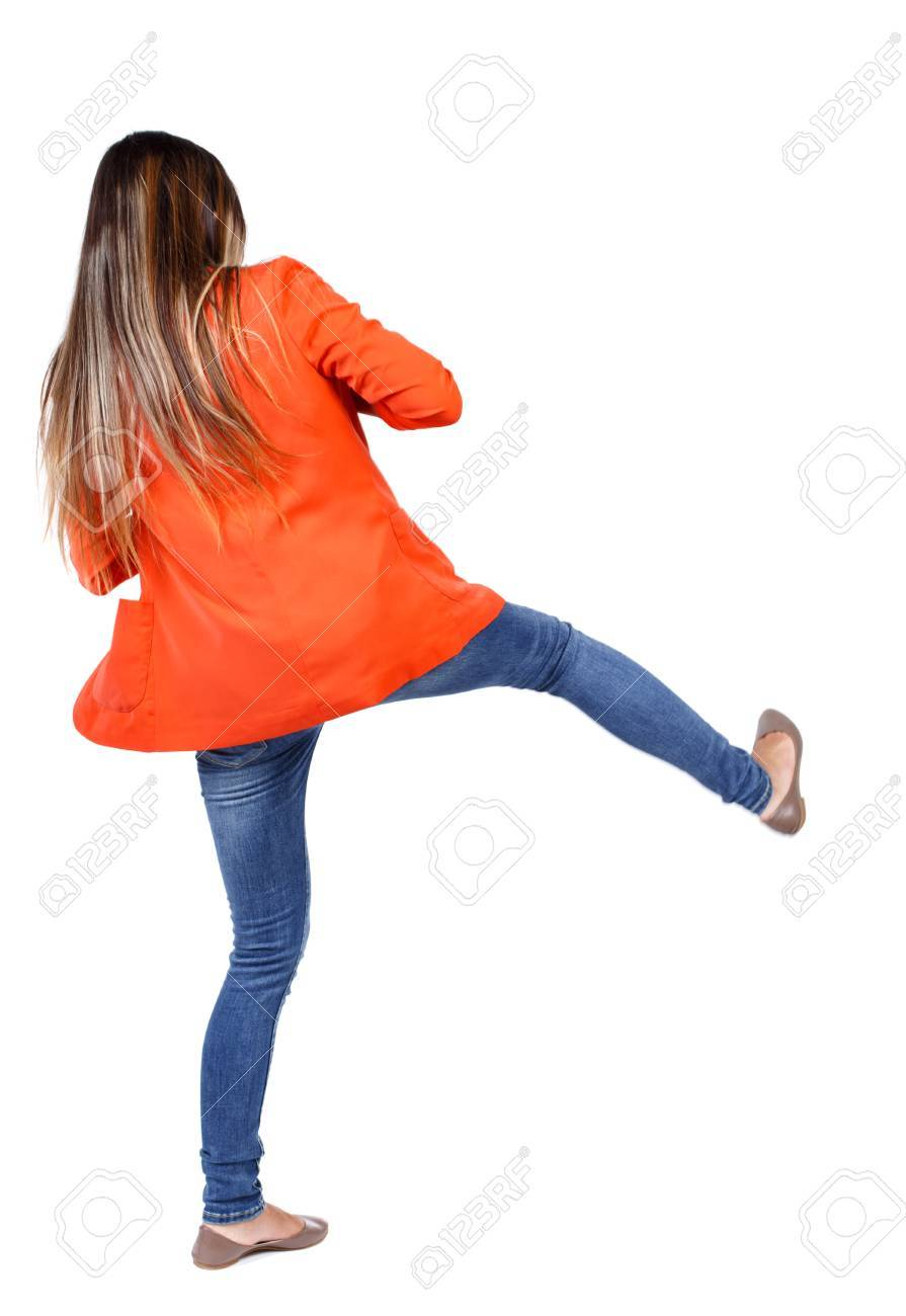 Image of: Compilation Back View Of Woman Funny Fights Waving His Arms And Legs Rear View People Collection Hayquanet Back View Of Woman Funny Fights Waving His Arms And Legs Rear