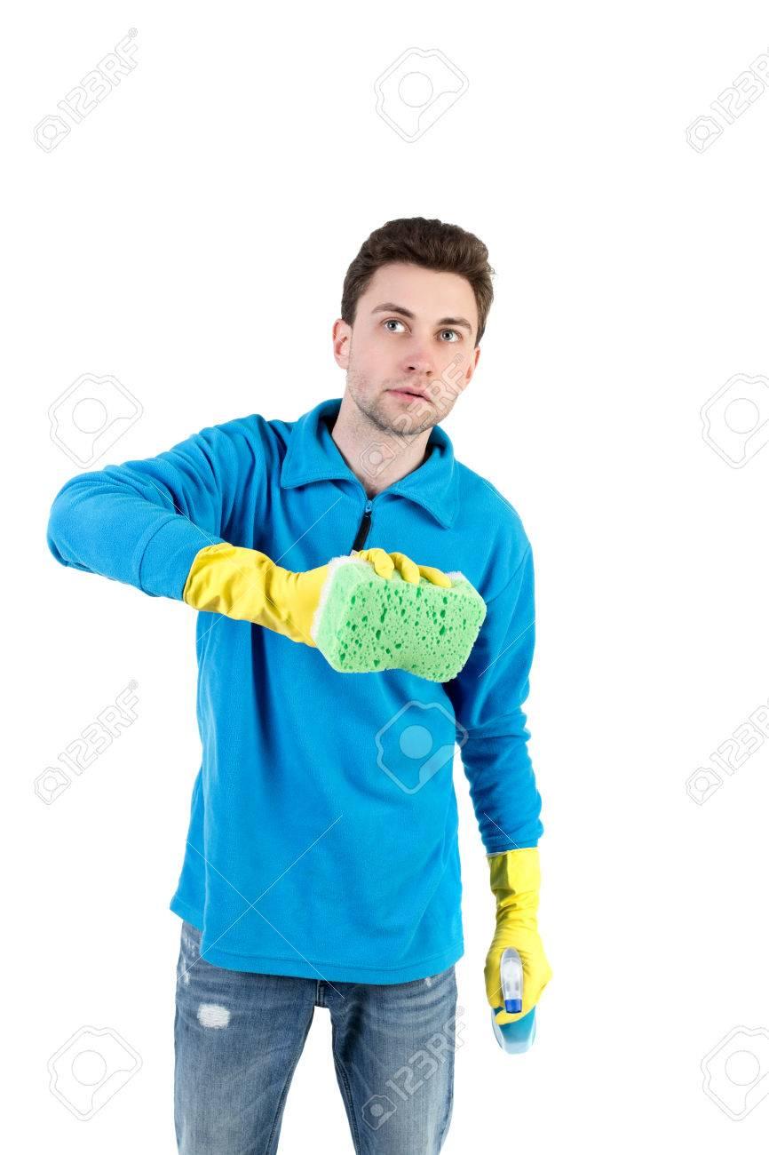 Blauer jacke reinigen