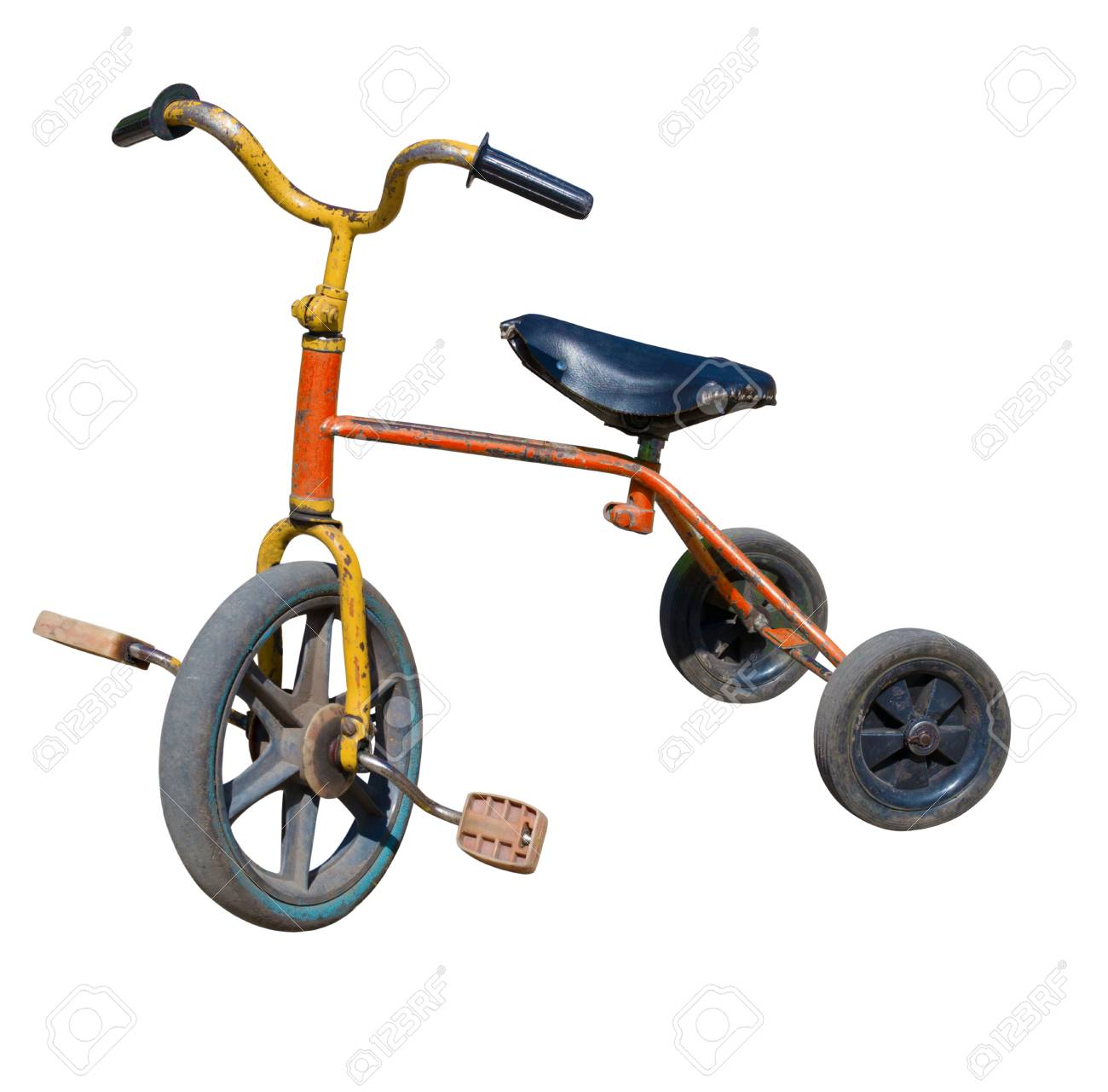 Old Vintage Tricycle Children Bicycle Isolated Over White Background Stock Photo Picture And Royalty Free Image Image 62593896