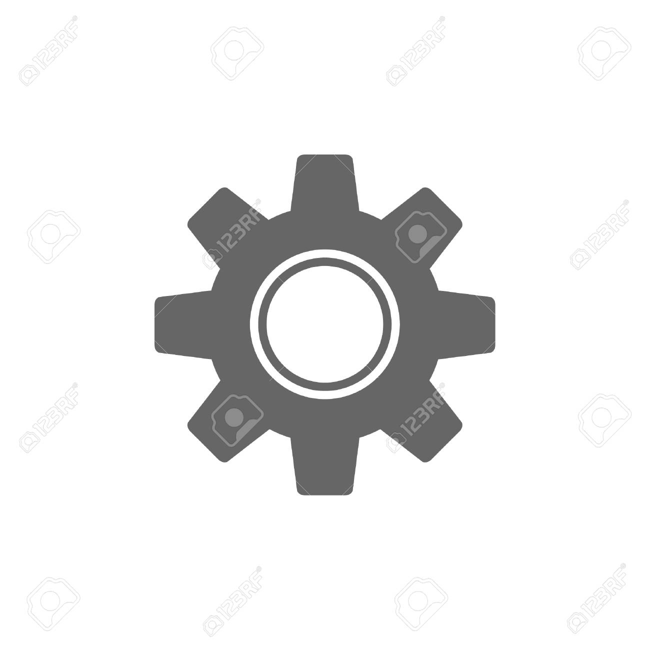 Gear vector icon, settings symbol