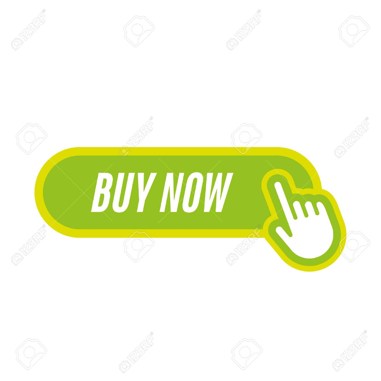 buy now icon with hand - 100894373