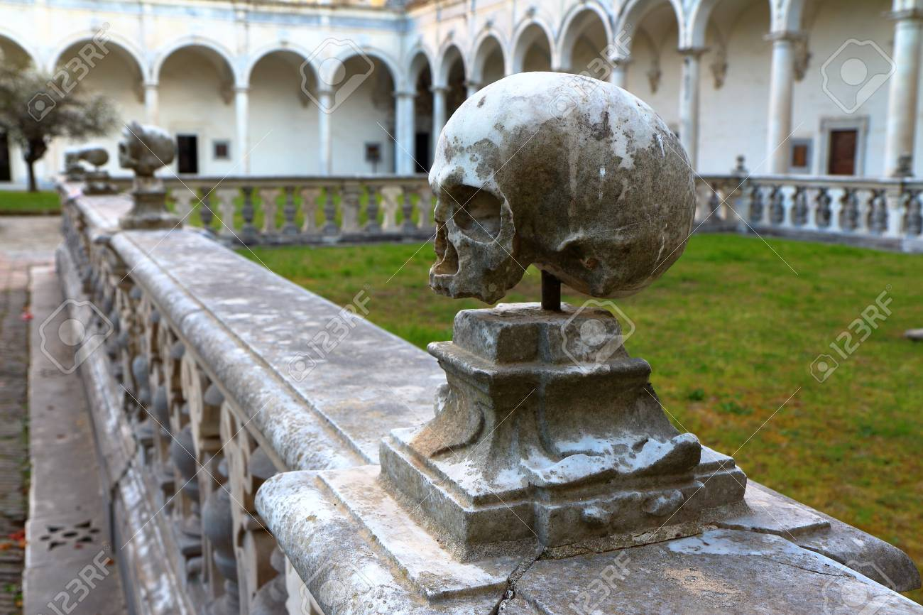 Skulls At Certosa San Martino Cloister In Naples Italy Stock Photo Picture And Royalty Free Image Image 80752777