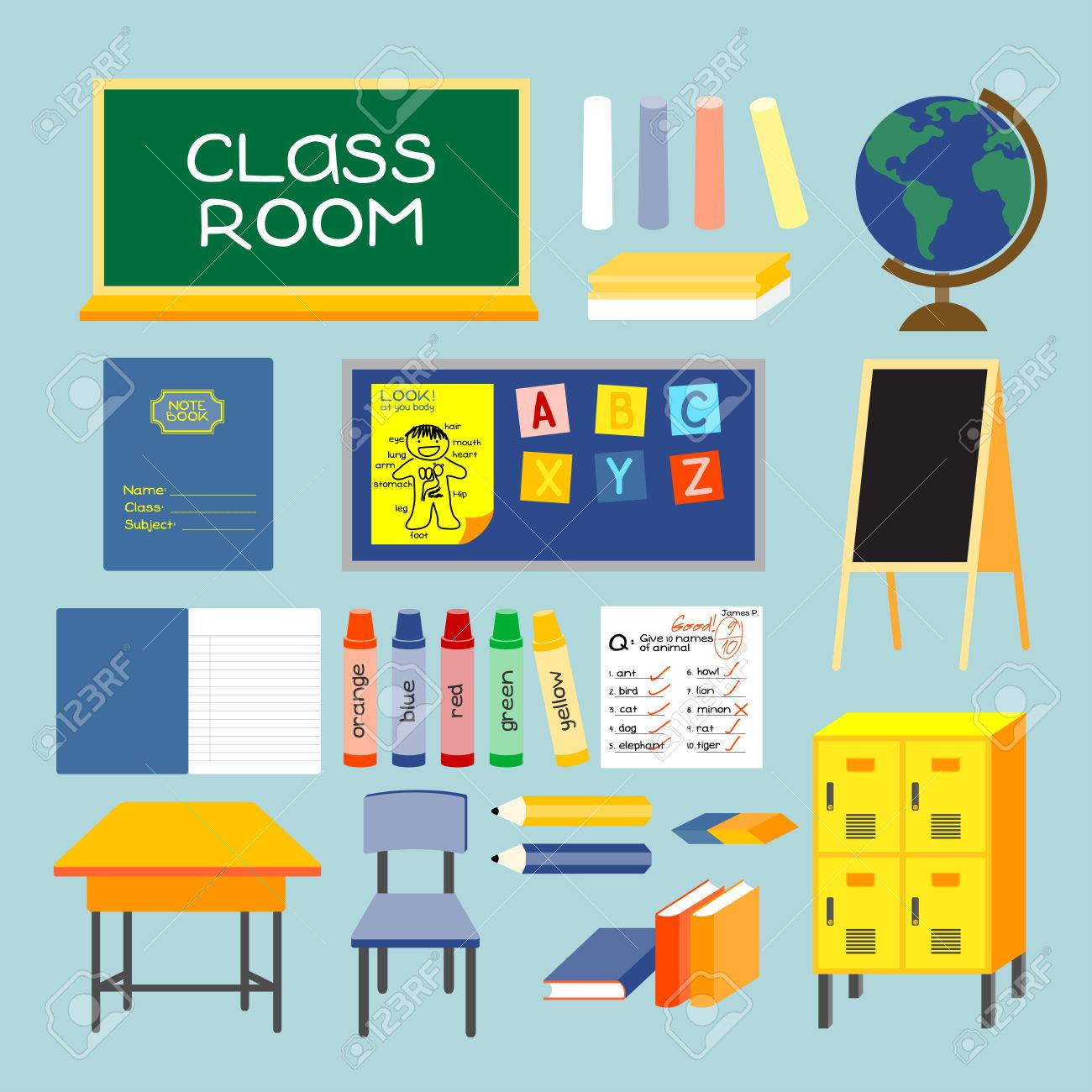 CLASS ROOM Old Style Class Room Equipments Furniture And Things