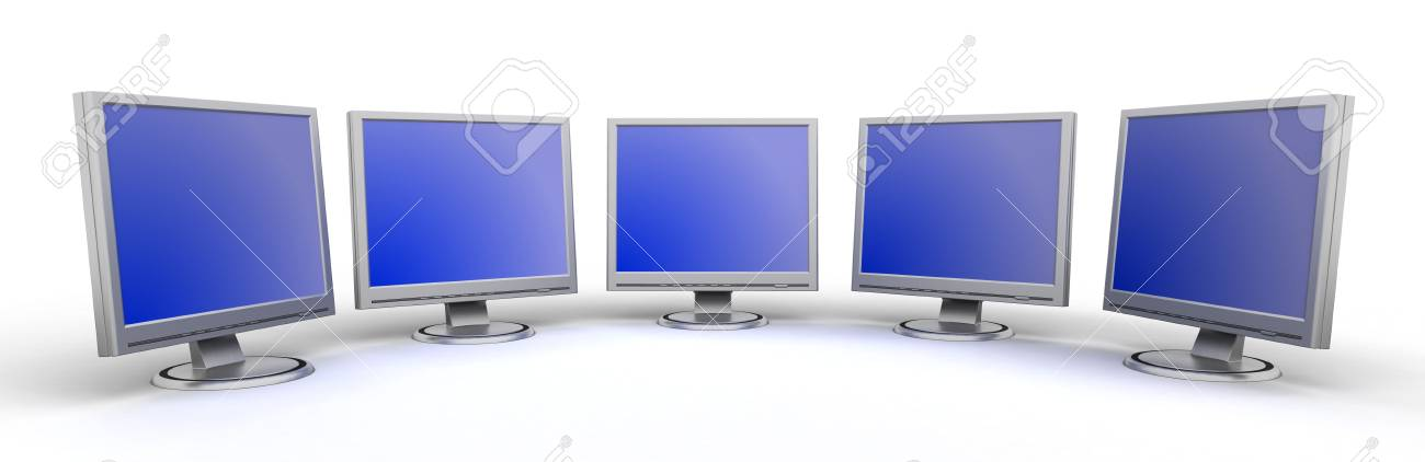 Monitors flat screen Stock Photo - 2338317