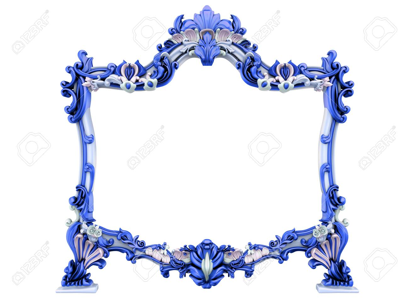 3d image of antique frame. White background. Stock Photo - 3572287