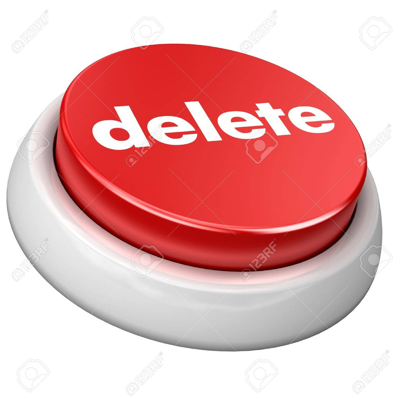 button delete Stock Photo - 4224565