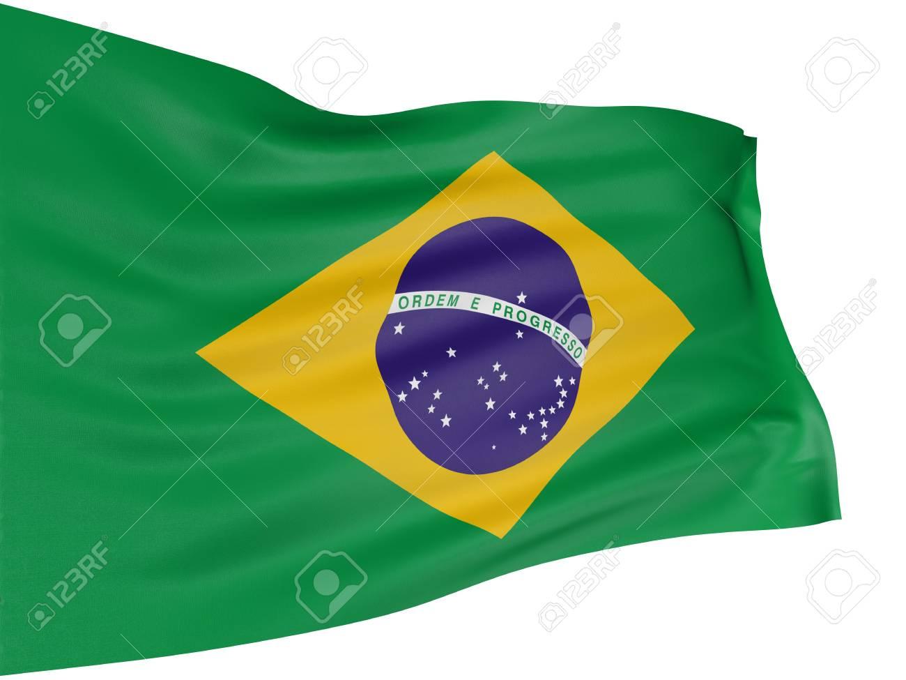 3D Brazilian flag Stock Photo - 4440108