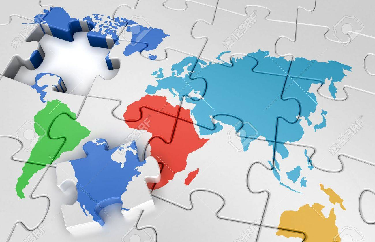 Puzzle World Map Photo Picture And Royalty Free Image – Map World Puzzle