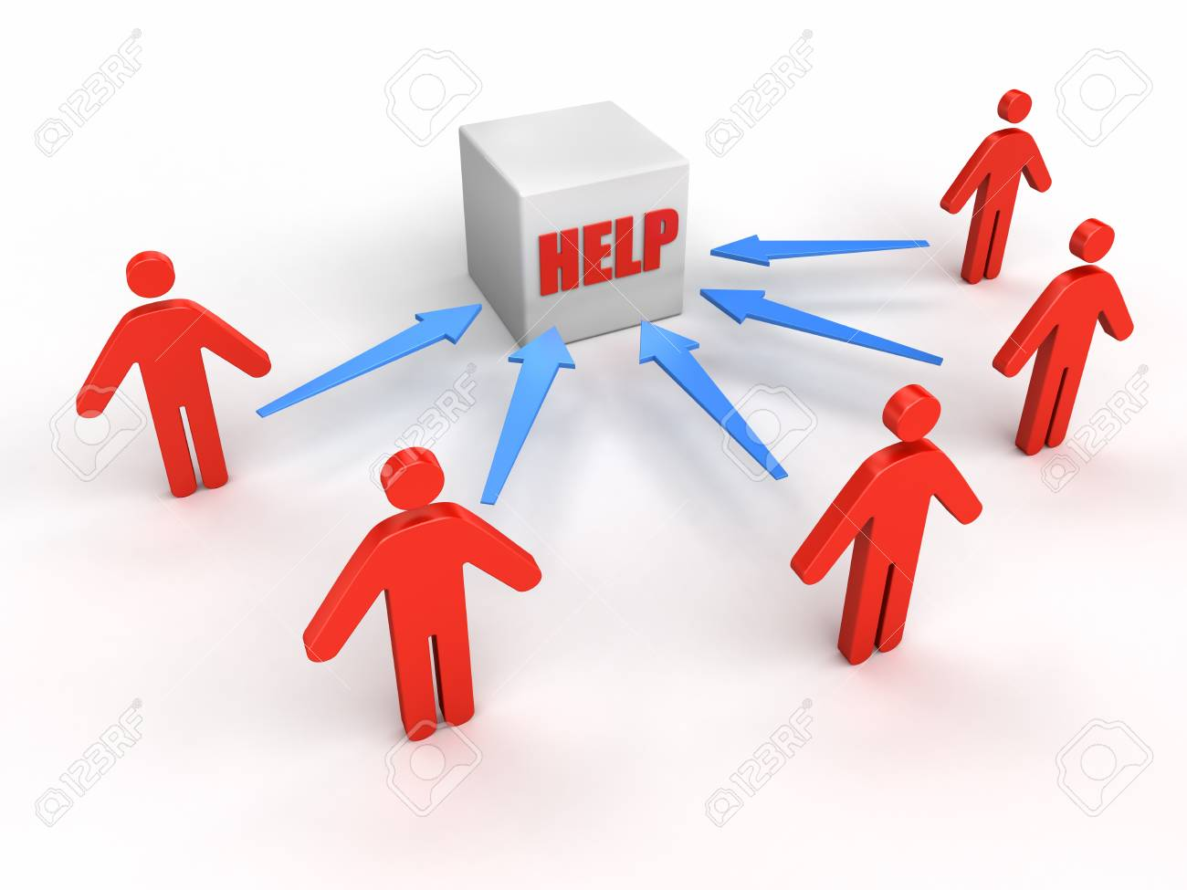 People to HELP Stock Photo - 13362344