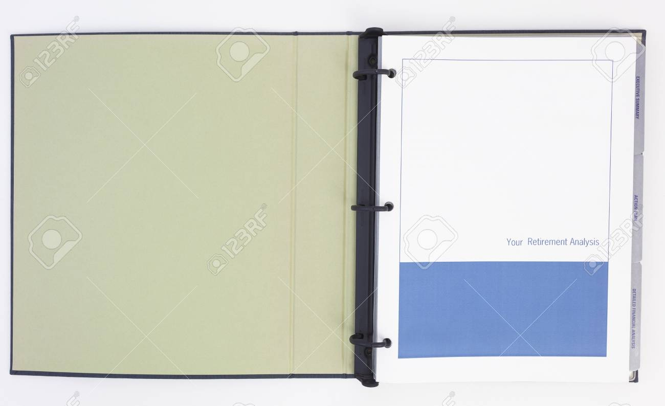 retirement planner blank open isolated stock photo picture and