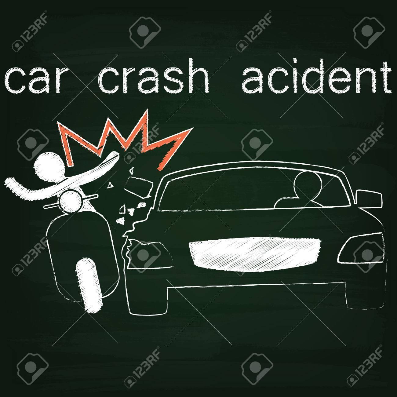 Anmeldung Für Autounfall Unfall Auf Side Kollision Zwischen Pkw Und ...