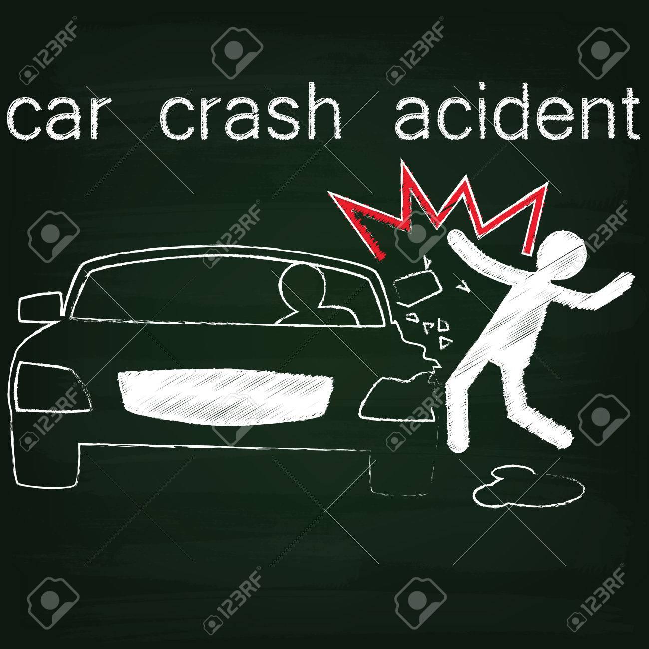 Symbol Für Autounfall Unfall Auf Side Kollision Zwischen Autos Und ...