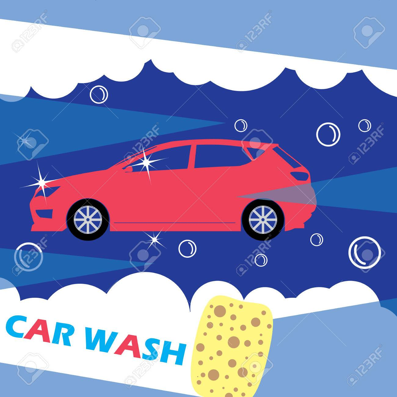 Red car needles on a dark blue background wipe clean with a red car needles on a dark blue background wipe clean with a sponge a biocorpaavc Choice Image