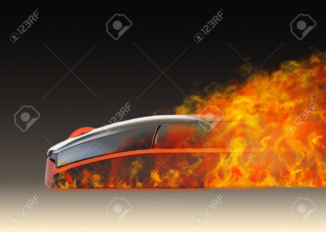 Super Mouse - The Mouse with a fire effect Stock Photo - 8494717