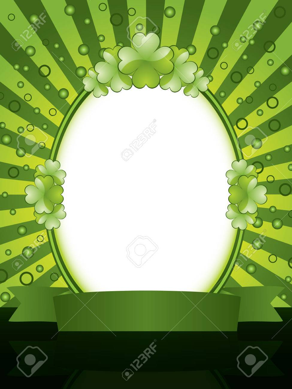 St. Patrick's Day design - frame Stock Vector - 8845234