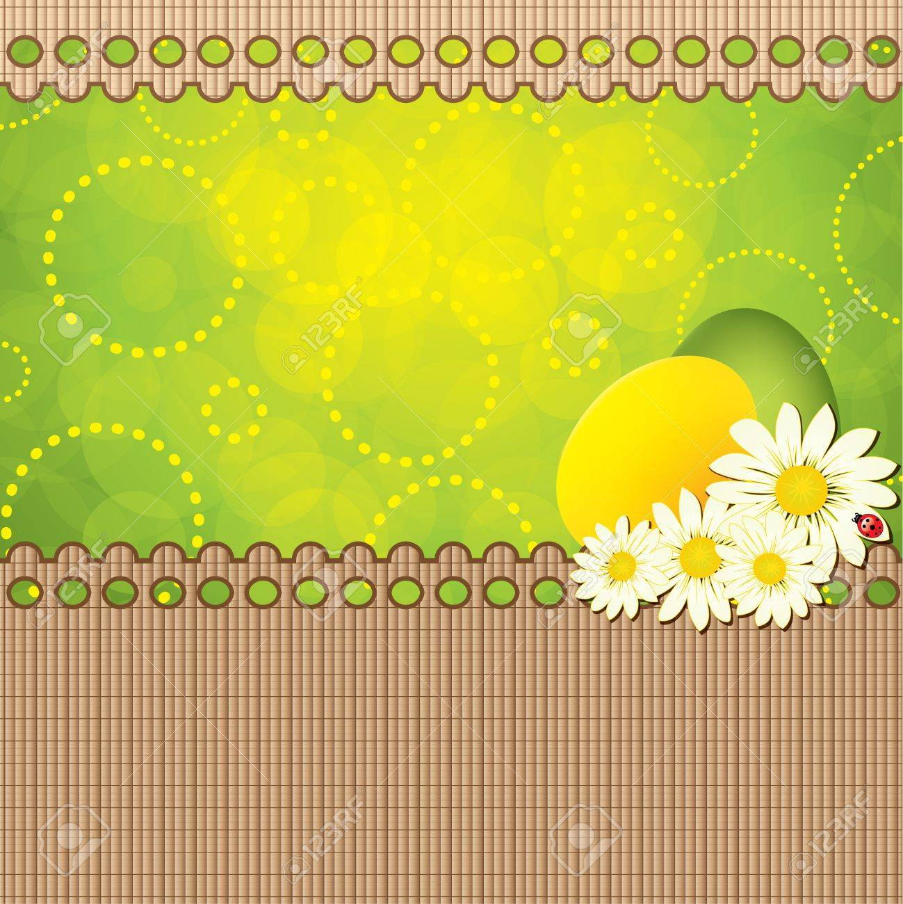 Green Easter Greeting Card TemplateVector Royalty Free Cliparts – Easter Greeting Card Template