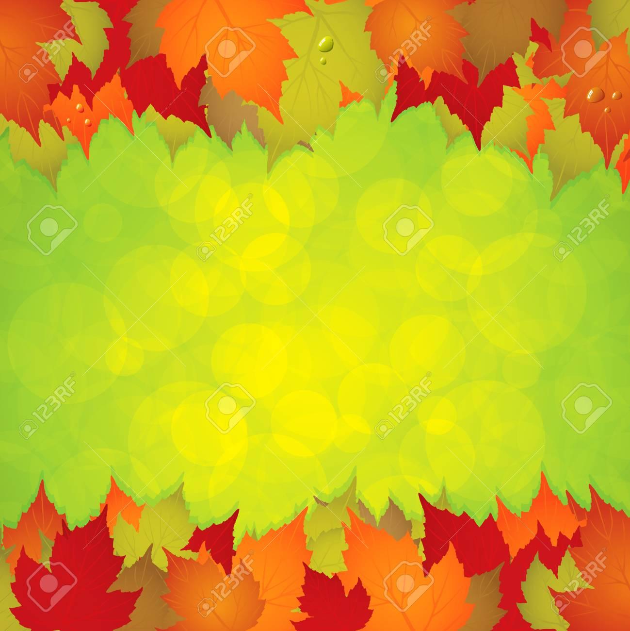 Autumn leaves frame. Stock Vector - 10036796