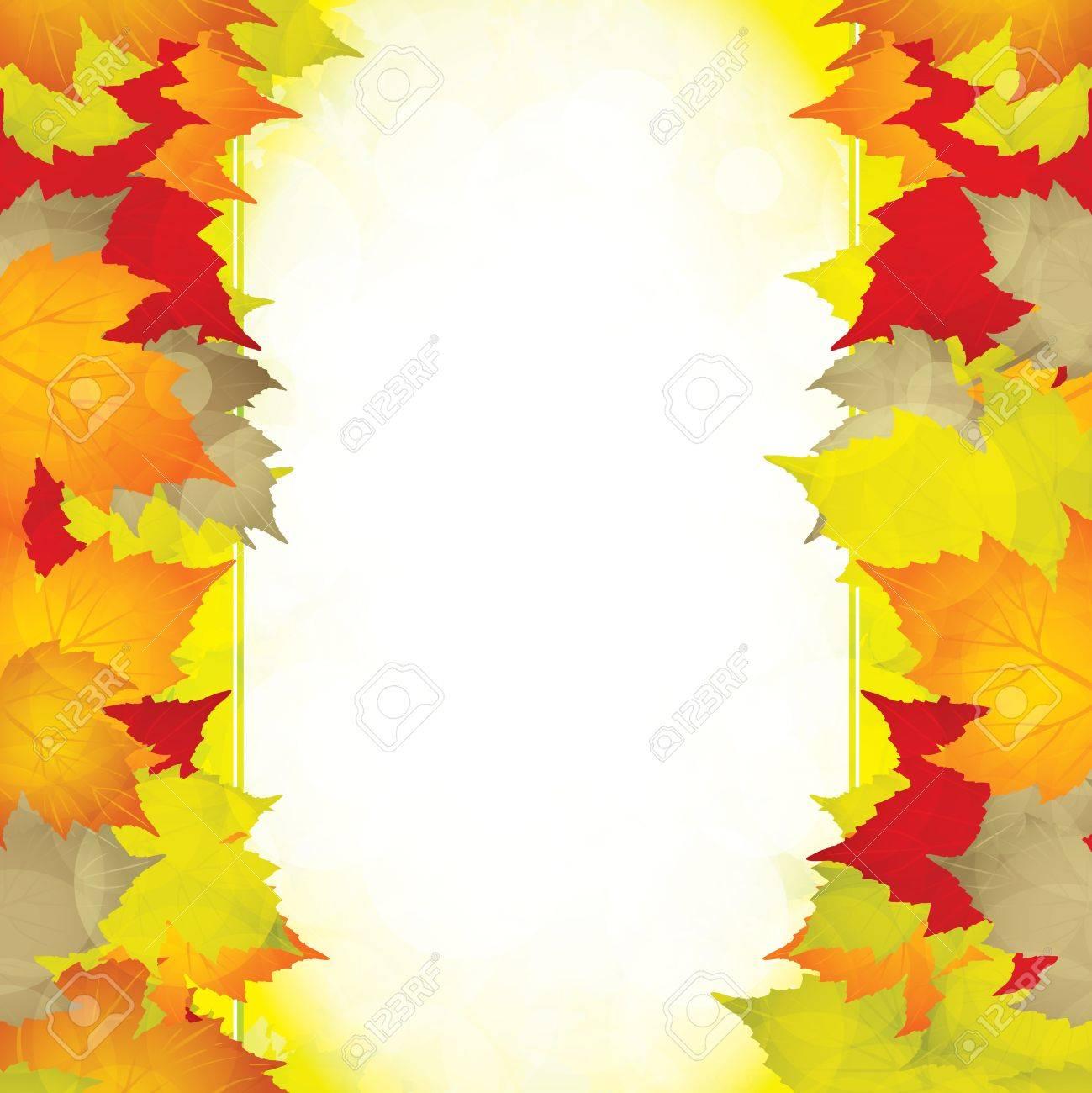 Autumn leaves frame.Vector Stock Vector - 10622287