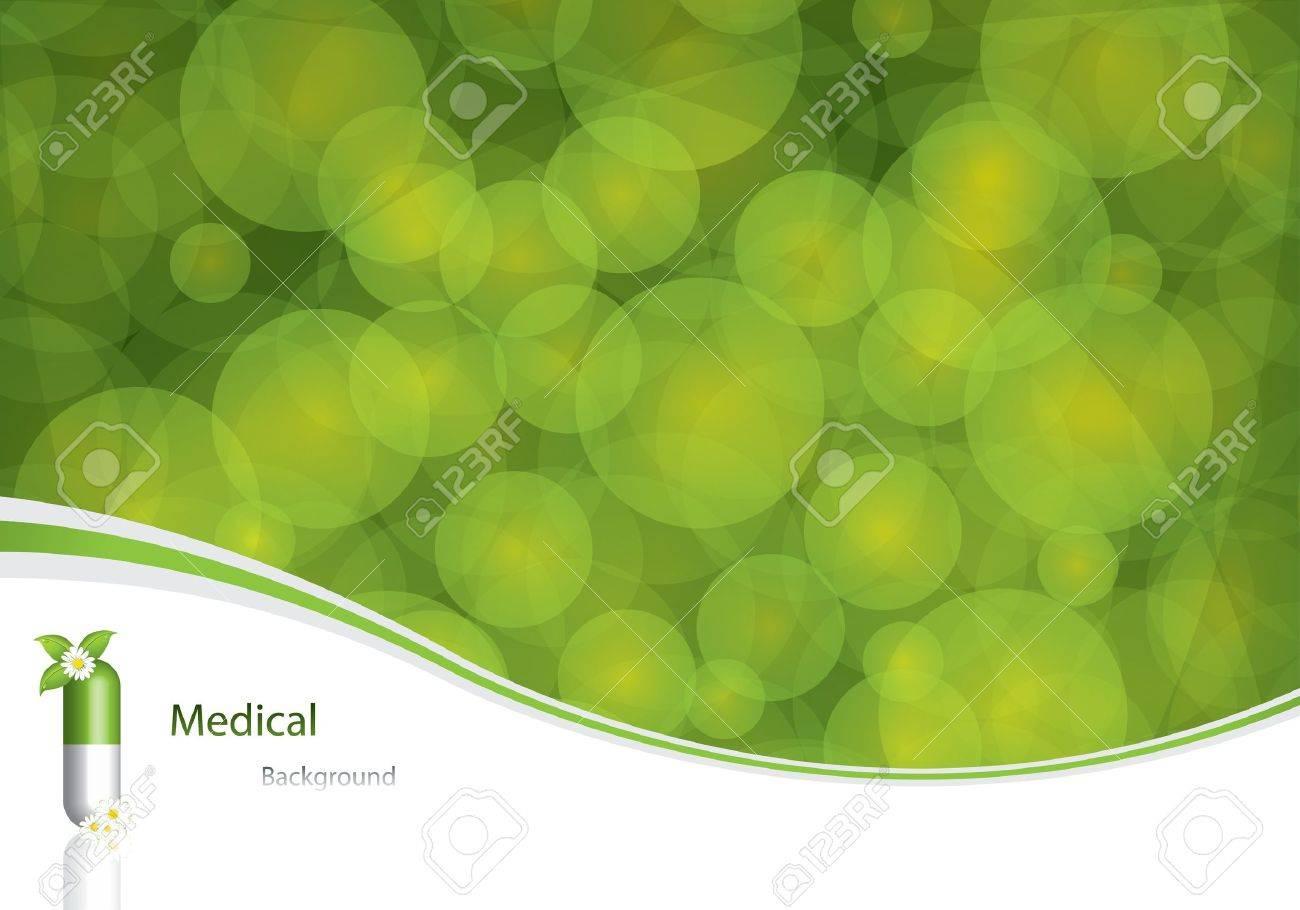 Green alternative medication concept - vector illustration Stock Vector - 11660125