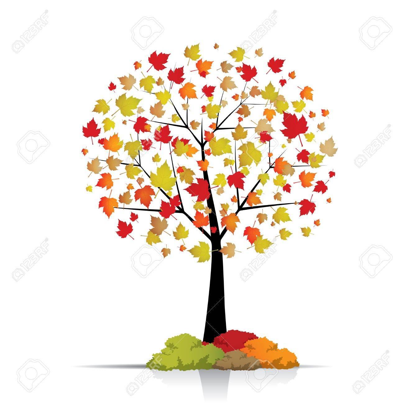 Beautiful autumn tree isolated on white Stock Vector - 14616236