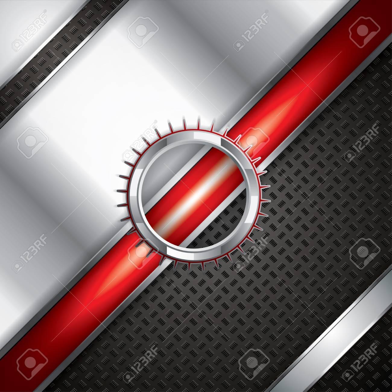 Abstract background, metallic red brochure, vector Stock Vector - 15046063