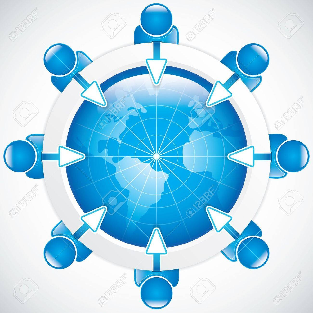 Teamwork around the table Business vector Stock Vector - 15046071