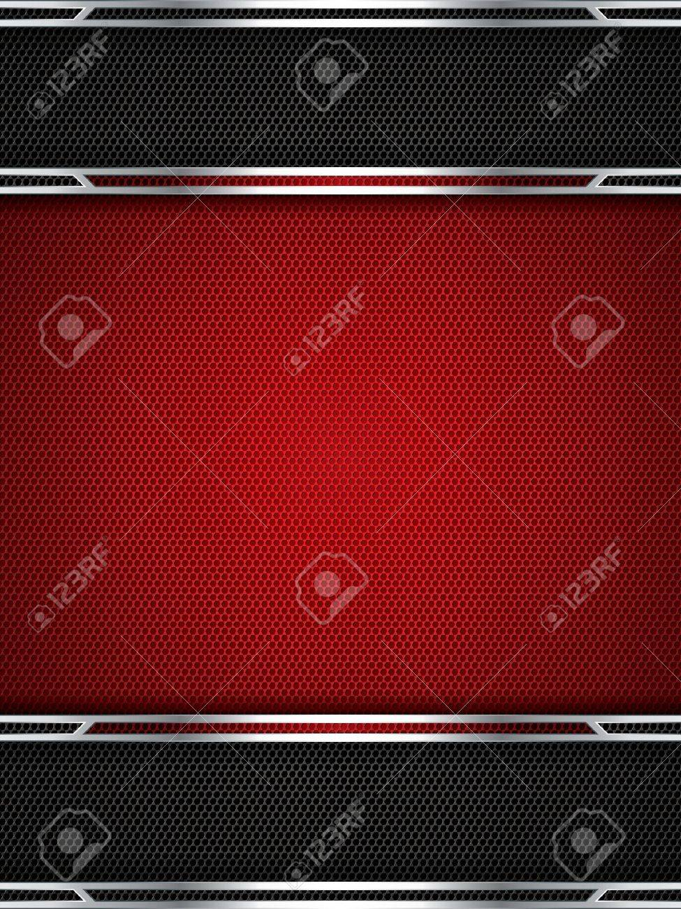 Abstract background, metallic red brochure - 16298122