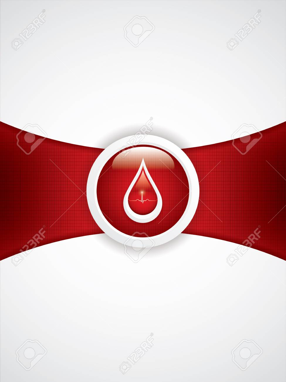 Blood donation vector Medical background Stock Vector - 18653923