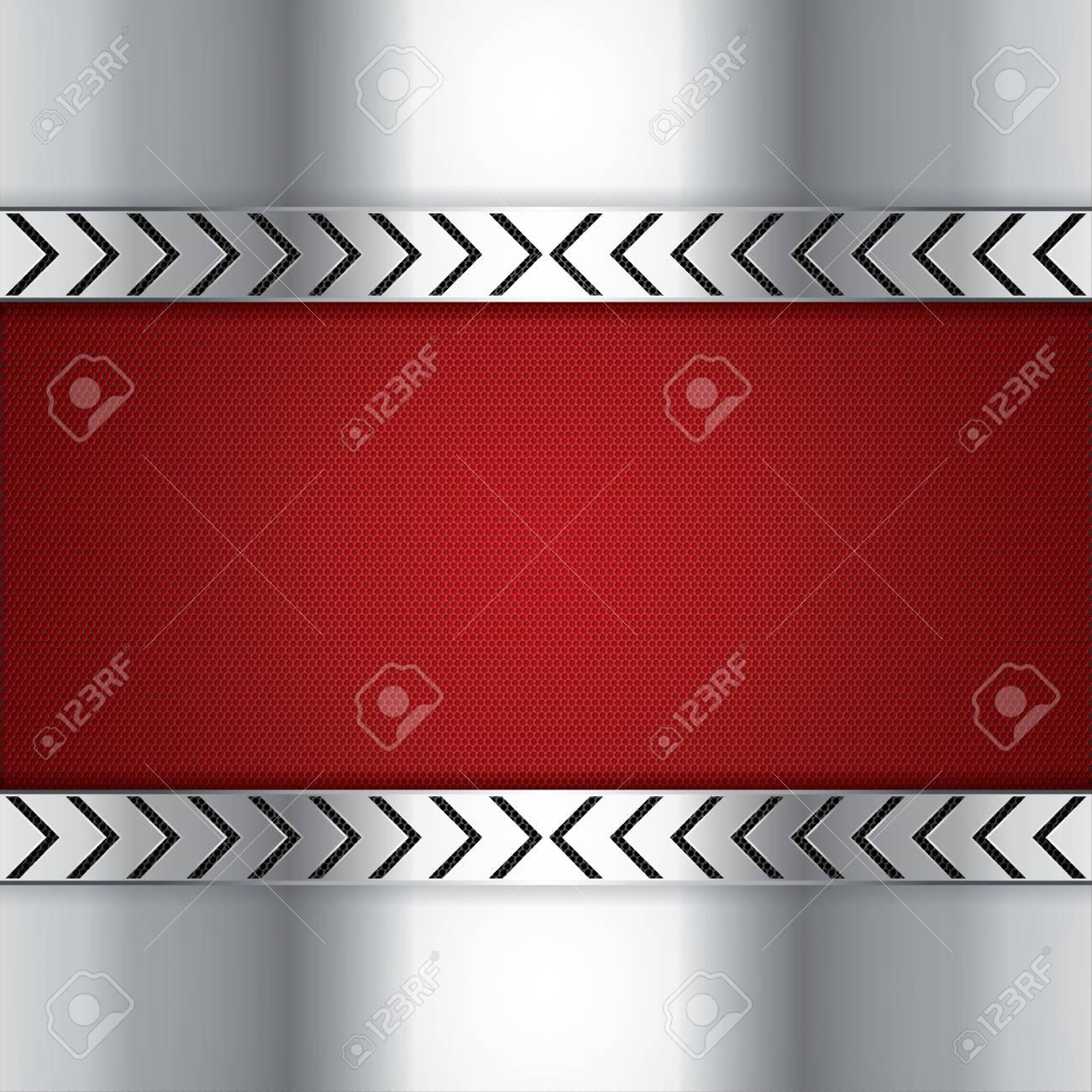 Abstract background, metallic red brochure Stock Vector - 19791044