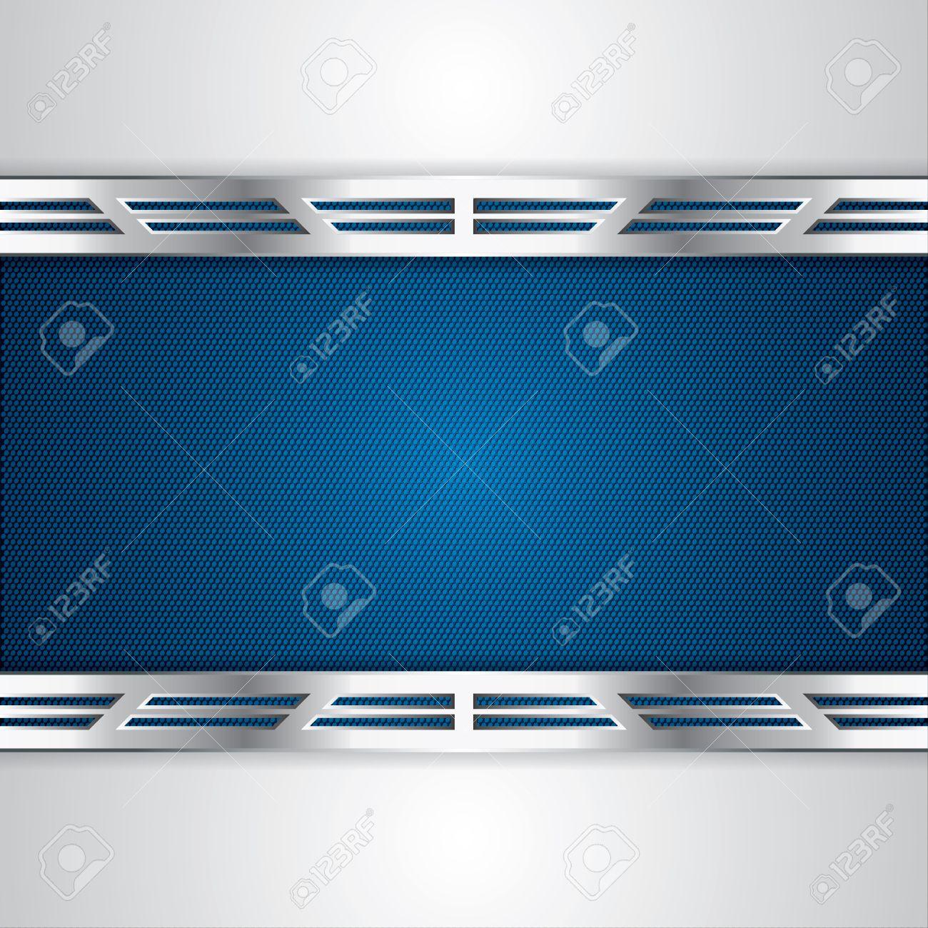 Abstract background, metallic blue brochure - 19791070