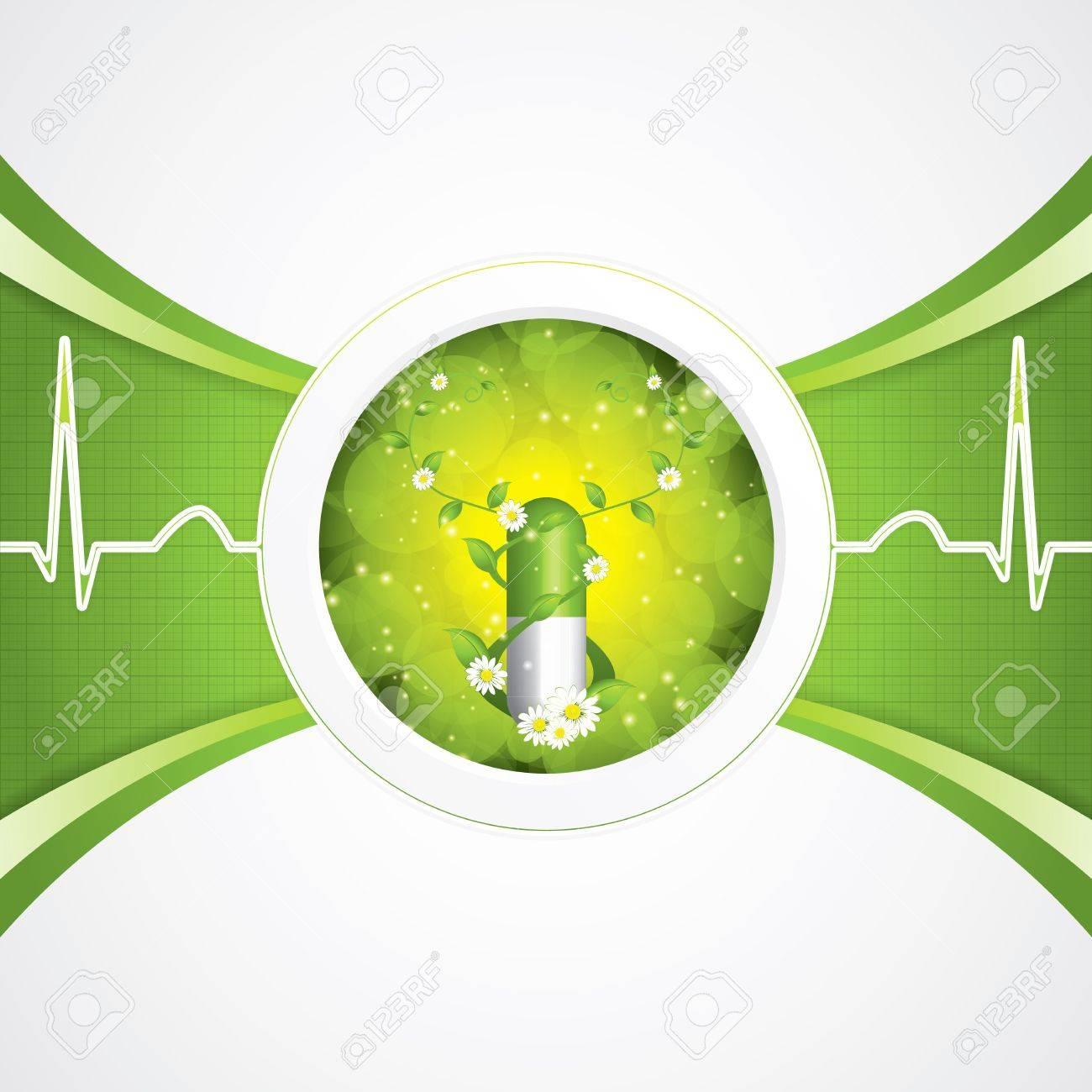 Alternative medication concept - herbal pill Stock Vector - 20667116