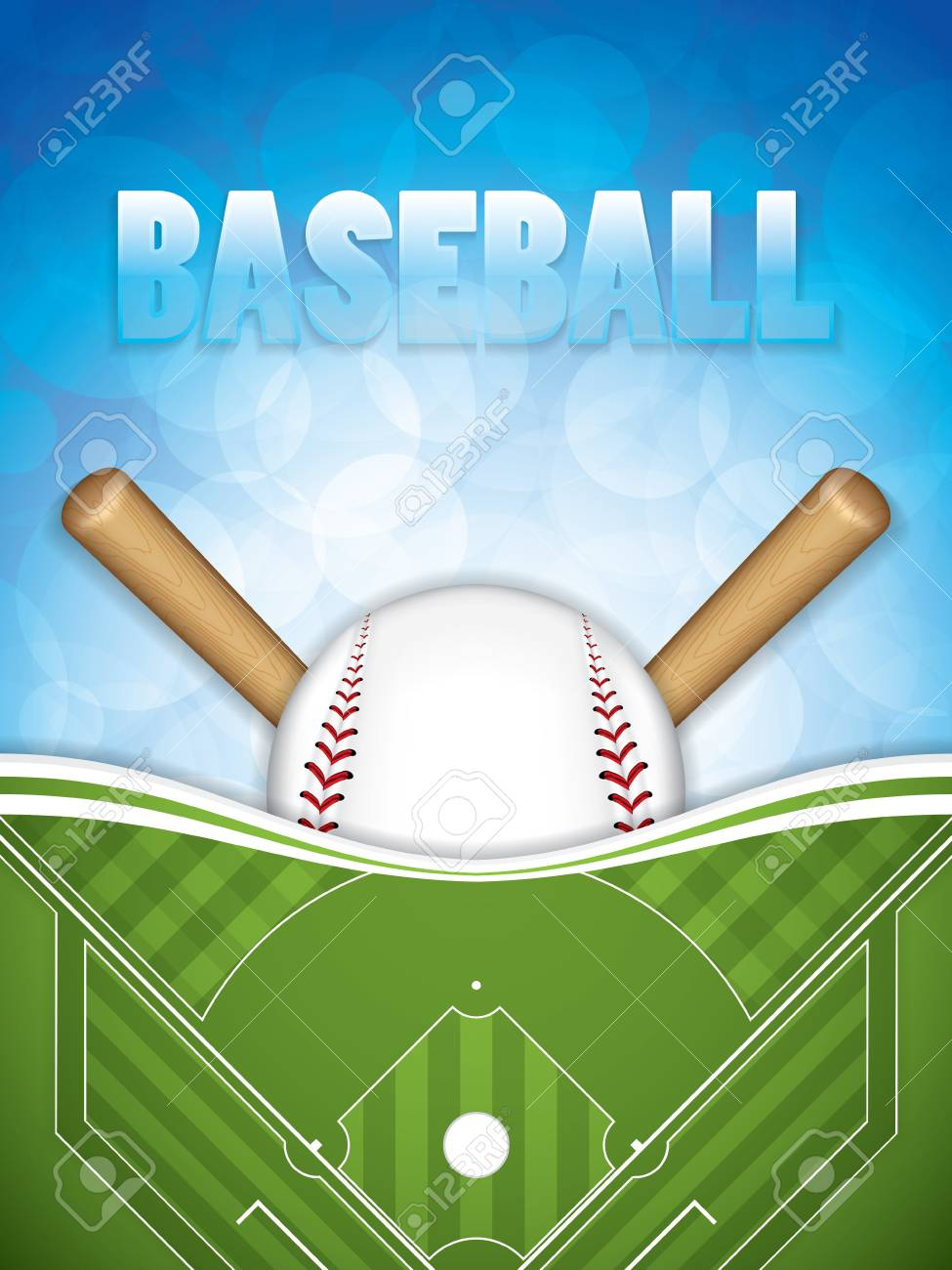 baseball brochure template design vector illustration stock vector 97076649