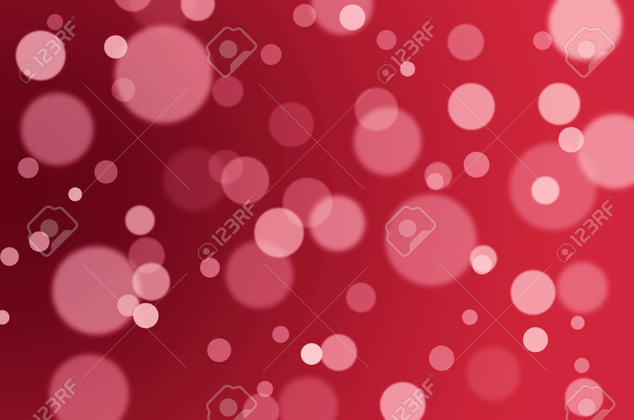 Red And White Bokeh Background Happy Birthday Valentineâ S Day Christmas Festival Background Concept