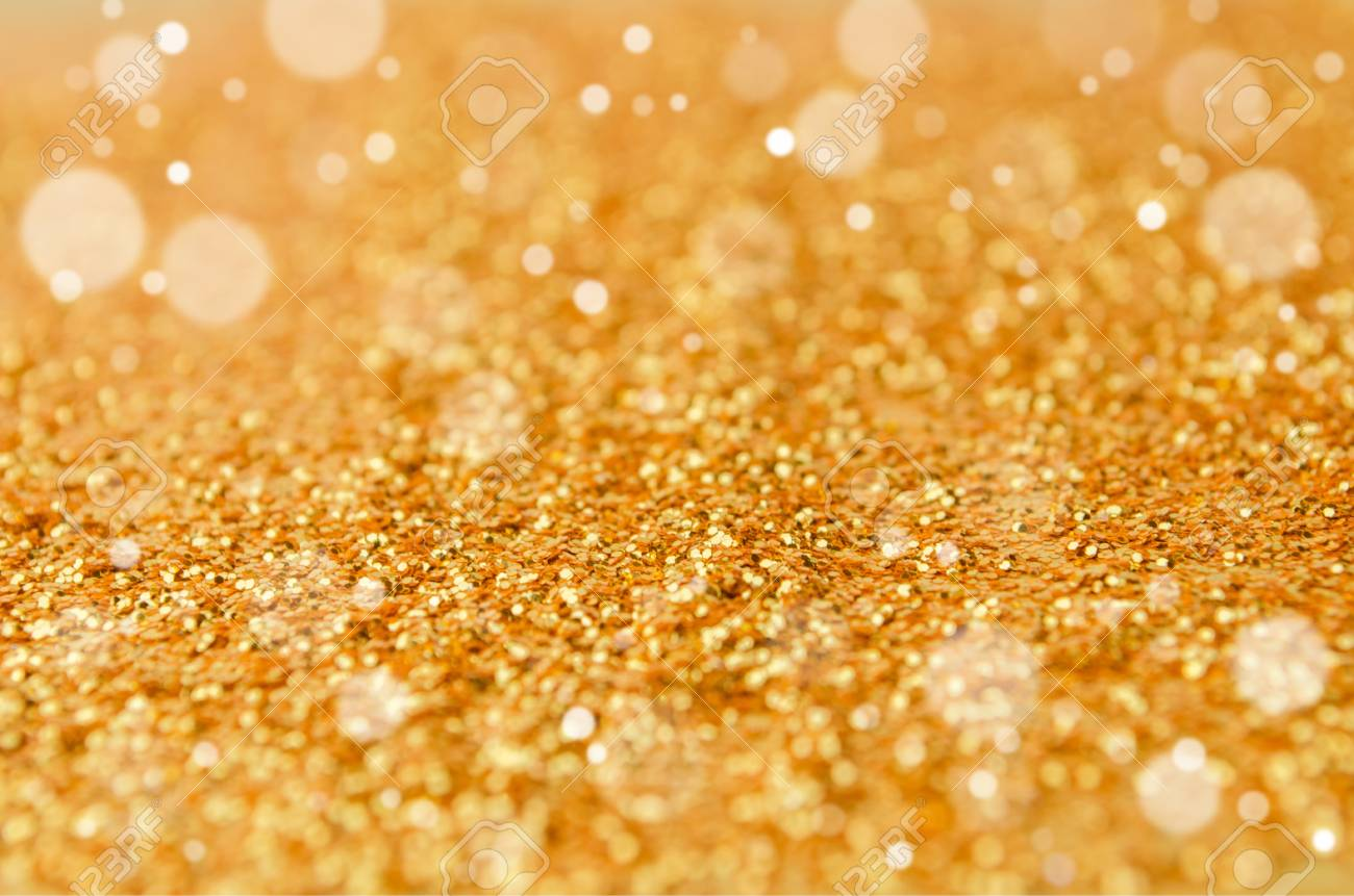 Defocused Golden Shiny And Glitter Wallpaper For Holidays Christmas New Year Valentine Festival