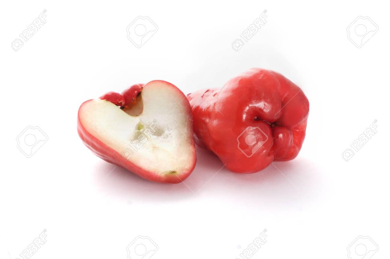wax apple on white background Stock Photo - 16529252