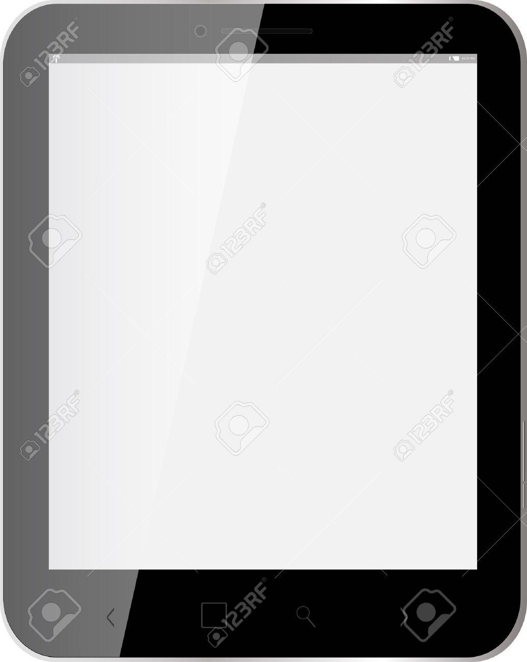 black Tablet, blank screen Stock Vector - 20851759