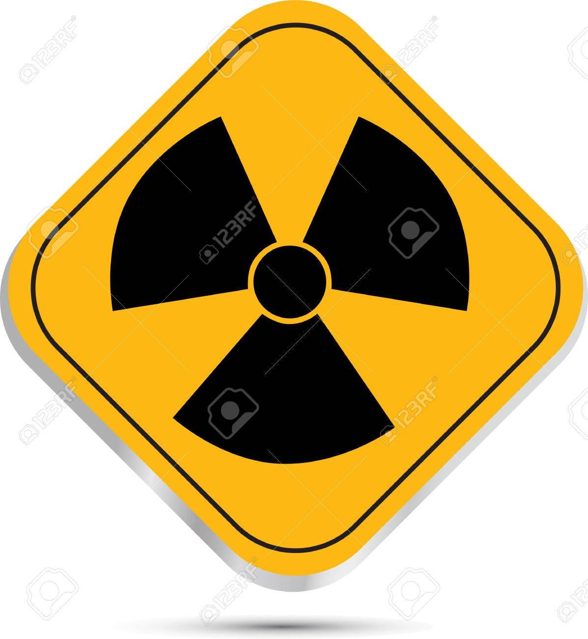 Radiation hazard symbol sign Stock Vector - 27865387