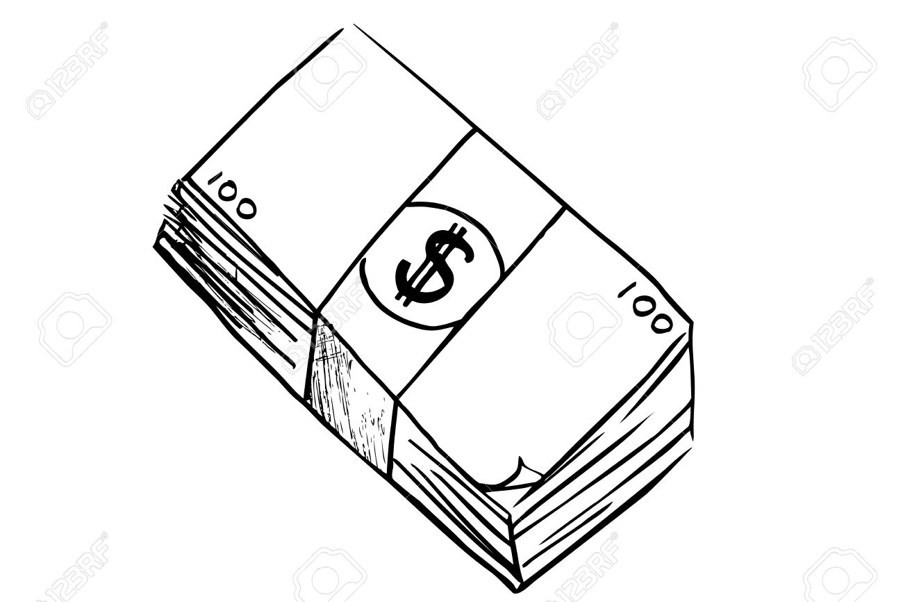 Hand Draw Sketch Of Money Stock Photo Picture And Royalty Free