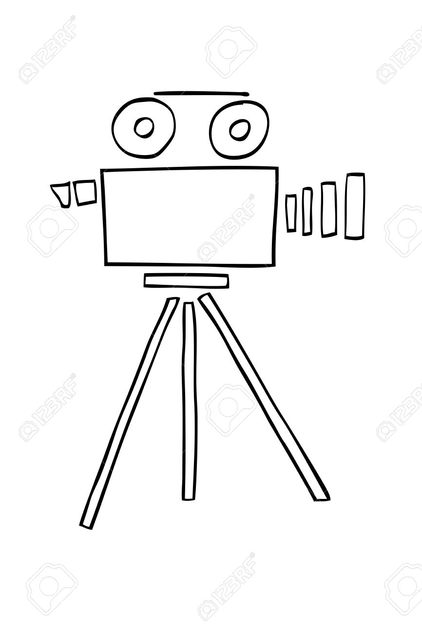 Uncategorized How To Draw Video hand draw sketch of video camera stock photo picture and royalty 35710840