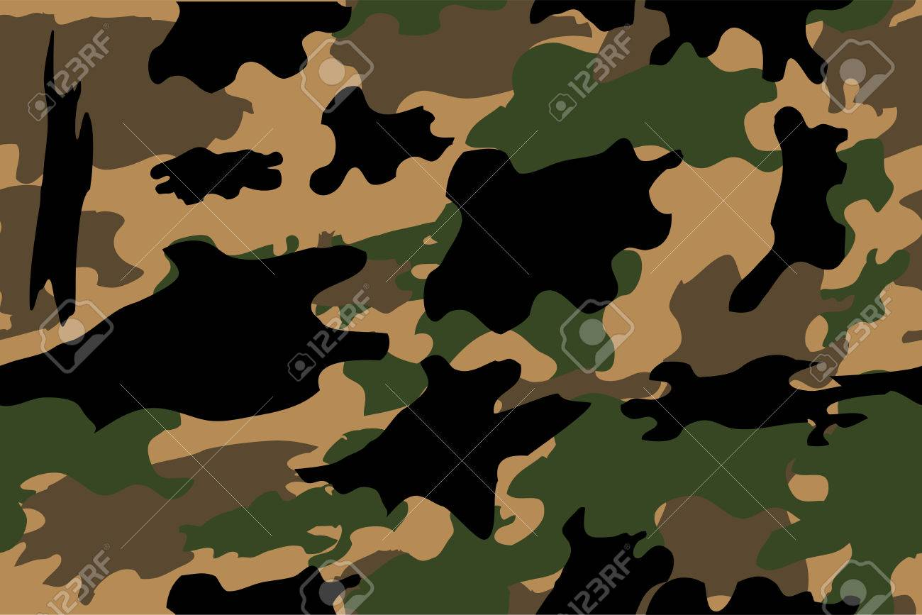 Seamless Hand Draw Sketch Of Camouflage Stock Photo Picture And Royalty Free Image Image 77745193