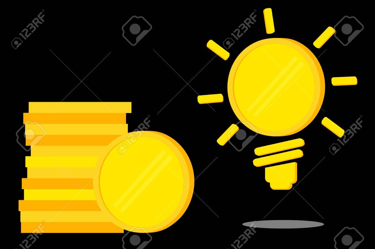Leere Goldene Münze Illustration Für Idee Geld Zu Verdienen