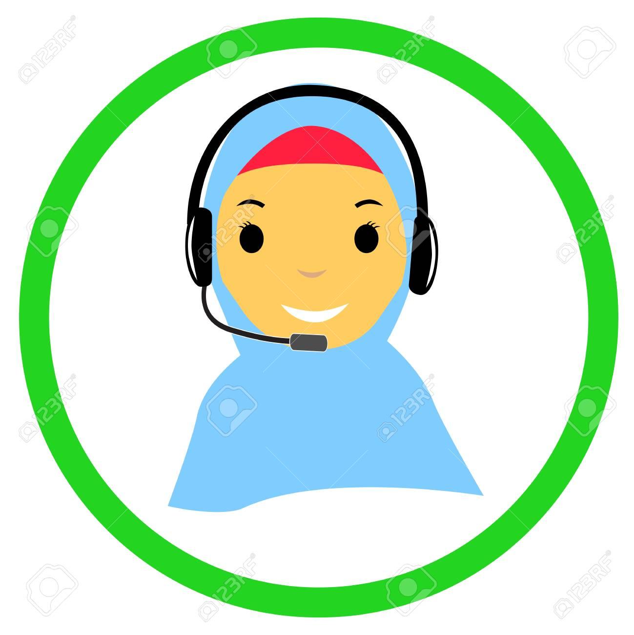 Hasil gambar untuk customer service operator muslimah