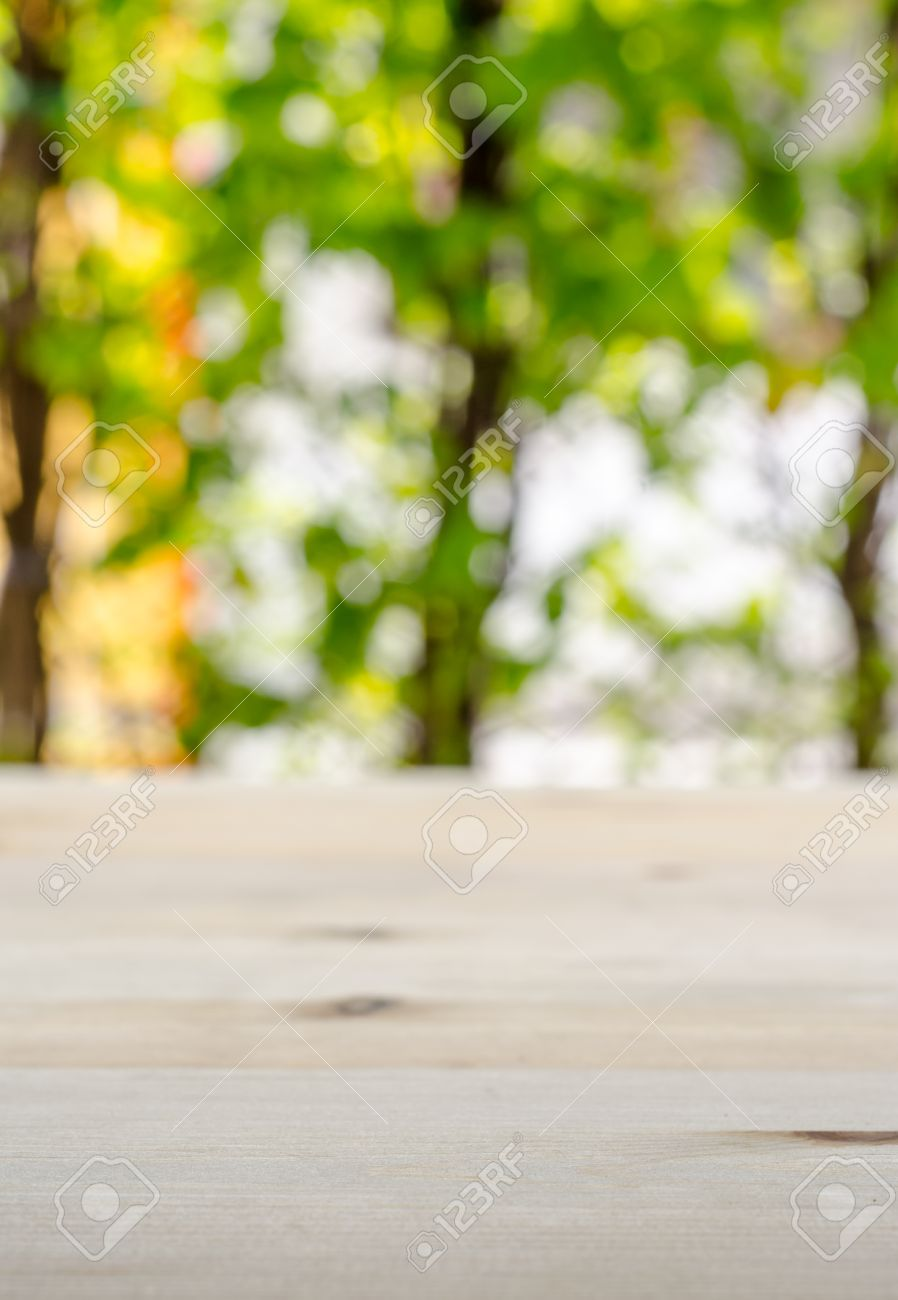 Empty Blur Wooden Desk And Blur Natural Background Stock Photo Picture And Royalty Free Image Image 46964420