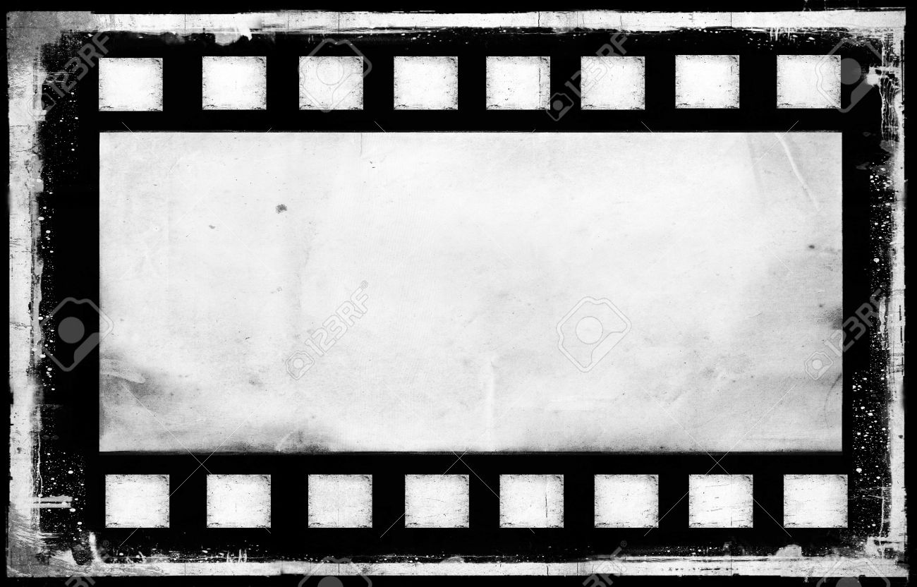Bank Old Grunge Film Strip Frame Background Stock Photo, Picture And ...